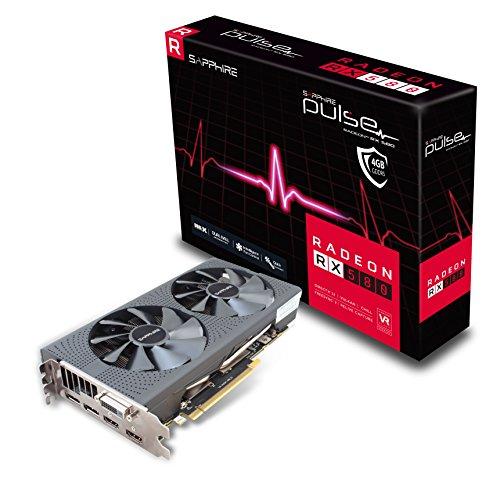 Sapphire Radeon RX 580 Pulse Scheda Grafica da 4 GB, GDDR5, PCI-E, Grigio
