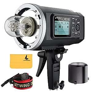 Godox Wistro AD600B All-in-One Leistungsstarker Outdoor Blitz Blitzgerät mit 2,4G X System Eingebaute 8700 mAh Li-Ion-Batterie Für DSLR Kameras (AD600B)
