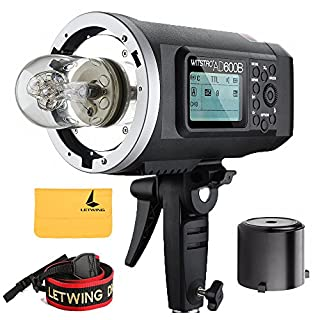 Godox Wistro AD600B TTL All-in-One Powerful Outdoor Flash with 2.4G X System Build-in 8700mAh Li-on Battery for DSLR Cameras (AD600B) (B019MR1LCW) | Amazon price tracker / tracking, Amazon price history charts, Amazon price watches, Amazon price drop alerts