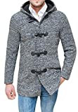 Evoga Cappotto Montgomery uomo sartoriale casual tweed giacca invernale