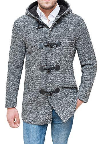Cappotto Montgomery uomo sartoriale casual tweed giacca invernale (m, grigio)