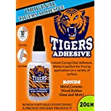 WOODCRAFT Tigers Wood, Ceramic, Rubber, Glass, Metal Instant Adhesive (20 gm)