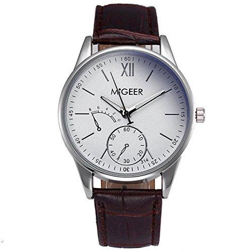 Kycut Luxus-Armbanduhr für Herren, Krokodillederimitat, analoge Armbanduhr