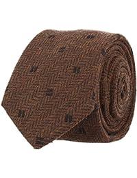 OTTO KERN Schmale Krawatte Clubkrawatte Braun Dunkelbraun 6,5 cm