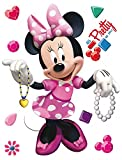 1art1 106584 Minni Maus - Minnie Mouse Wand-Tattoo Aufkleber Poster-Sticker 30 x 30 cm