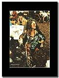 Janis Joplin - Back Stage At Woodstock 1969 ...Magazin Promo auf einem schwarzen Berg