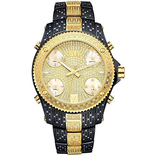 JBW Men's Jetsetter Diamond 50MM Steel CASE Swiss Quartz Watch JB-6213-D
