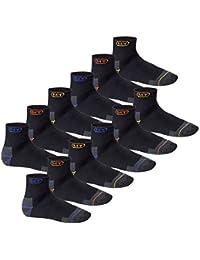 6 oder 12 Paar MT® Herren Arbeits- und Freizeit Kurzschaft Sneaker Socken - Funktionssocken - venenfreundlich und belastbar - Work Socken - Größen 39-50 - auch in Übergröße
