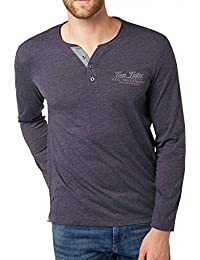 Tom Tailor - T-Shirt Tom Tailor Melange Henley