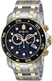 Invicta 0077 48mm Gold Steel Bracelet & Case flame fusion Men's Watch