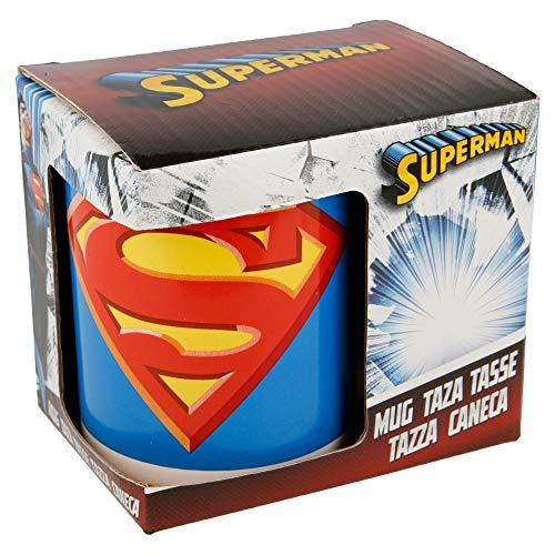 Boyz Toys ST456Tasse in Geschenk Box-Superman, Keramik, weiß, 7,5x 8,7x 10cm -