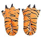 MILEEO Unisex Herbst Winter Tierhausschuhe Plüsch Hausschuhe Pantoffeln Kostüme Warme Puschen, Tiger M