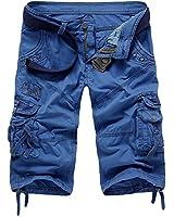 Minetom Vintage Cool d'été Homme Pocket Hobo coupe décontractée Cargo Shorts Sports de combat Casual Pantalon