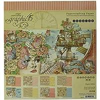 Papel gráfico 45, multicolor, tamaño mediano, 20,3 x 20,32 cm – Imagine