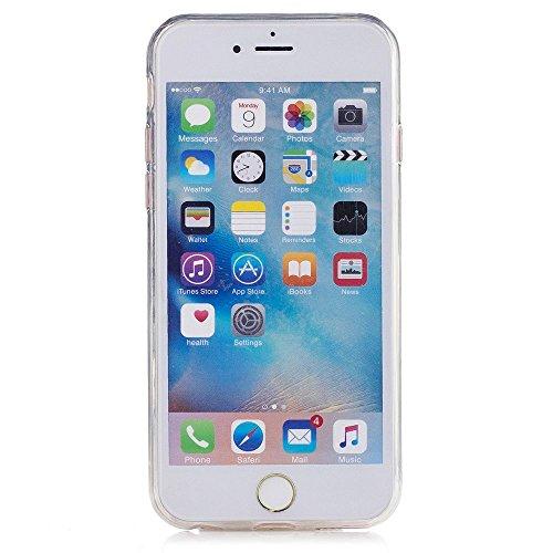 """Transparente Coque iPhone 6S (4.7"""") Silicone Souple Case Belle Mandala Blanc Motif Mode, Solaxi TPU Housse Étui pour Apple iPhone 6 / 6S Ultra Mince Couverture Légère Slim Flexible Coquille Shell Skin Licorne"""