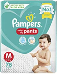 Pampers Diapers Pants, Medium (76 Count)