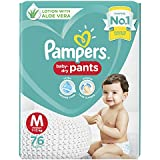 Pampers Diaper Pants, Medium, 76 Count