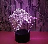 GIRLXV Geschenk Dekoration Kreative Weihnachtsgeschenk Schildkröte 3D Nachtlicht Bunte Touch Fernbedienung Led Visuelles Licht Dekoration Geschenk Atmosphäre Tischlampe
