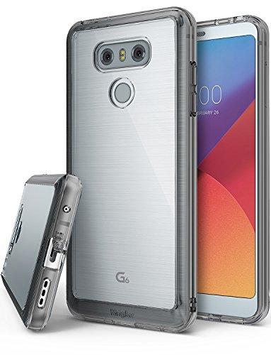 Funda LG G6, Ringke [FUSION] Protector de TPU con parte posterior transparente de PC [Protección contra caídas] Caso protectora biselada para LG G6 2017 - Negro humo Smoke Black