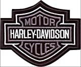 Patch Harley Davidson Modello Argento Bar & Shield cm 10,2 X 8,5 Replica -1309