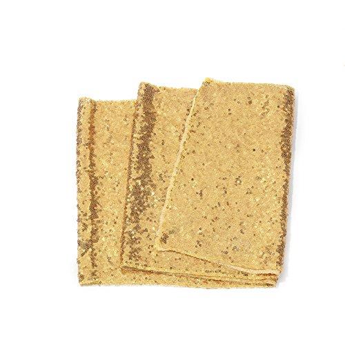 Meijuner Premium Glitzer Sequins Tischläufer Tischband Tischdecke Zur Dekoration in Hochzeitsempfang Geburtstag Bankett Tischdekoration 4 Farbe erhältlich 30cm*180cm (Gold)