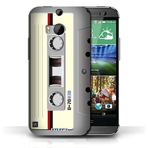 Kobalt® Imprimé Etui / Coque pour HTC One/1 M8 / Amp/Amplificateur conception / Série Retro Tech Compact Cassette Audio