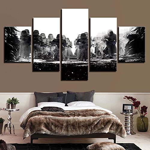nwand Auf Leinwand Gedruckt Drucke  Pictures Wall Art Hd Prints Wars Canvas Movie Painting Home Bedside Background Decor Modern Artwork Poster-A Rahmenlos ()