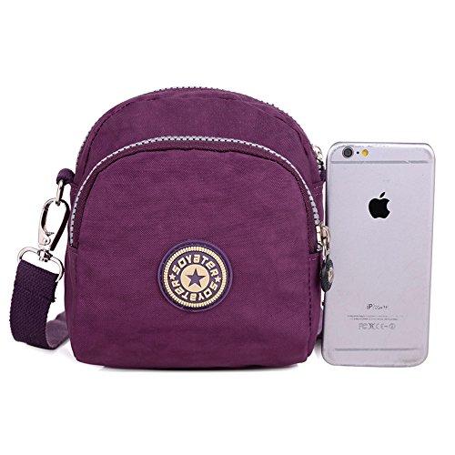 SUNRAY-BUY, Borsa a tracolla donna viola Purple Purple