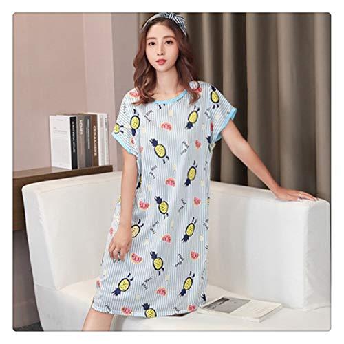 8d4d582546 FJLOKE& Women Milk Silk Pajamas Ladies Sweet Casual Home Wear Cute  Nightdress Summer Sleepdress Pajamas As