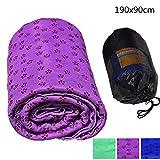 Bankaa Yoga-Handtuch rutschfeste Mikrofasermatte Handtuch Picknick-Matte im Freien Mit Netz Tragetasche für Hot Yoga Pilates 190 * 90cm