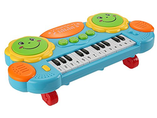 Smibie Electronic Kids Piano Keyboard Music Toy 14 Keys Lighting Educational Musical Instrument Toy for Kids Toddlers
