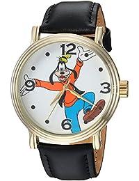 Disney Men's 'Goofy' Quartz Metal Casual Watch, Color:Black (Model: WDS000339)