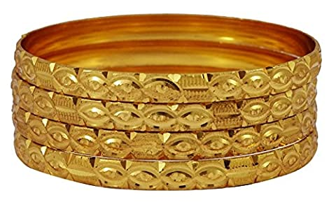 Matra ethnique Plaqué or Indien Hinged Bangle Kada traditionnelle Bracelet 2 * 6 Bijoux