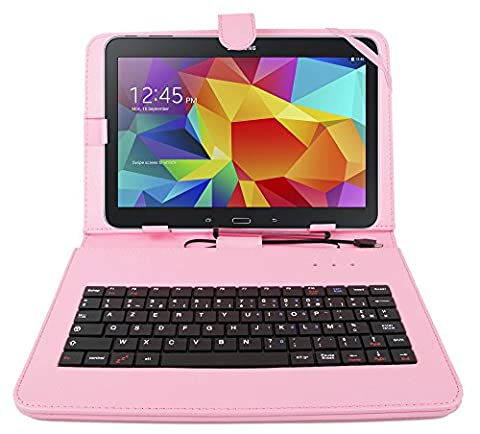 Etui clavier AZERTY rose pour tablettes Samsung Galaxy Tab S 10.5