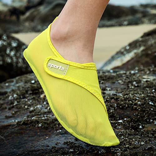 friendGG Damen Herren Wasser Schuhe Sport Quick Dry Barfuß Socken Schwimmen Strand Walking Yoga Strand-Wasserschuhe Der ZufäLligen Paarteignungsschwimmenschuhe Weiblichen StromaufwäRts