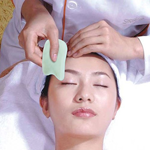 ewinever(R) Natürliche Hand gemacht Jade Gua Sha Brett Schaben Körper Massage Guasha Werkzeug Bestes für Graston Akupunktur Therapie Trigger Punkt Behandlung Haut Erneuerung