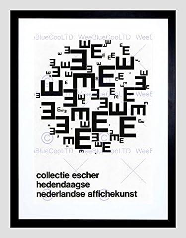 AD CULTURAL ESCHER COLLECTION NETHERLANDS GRAPHIC FRAMED ART PRINT B12X4391