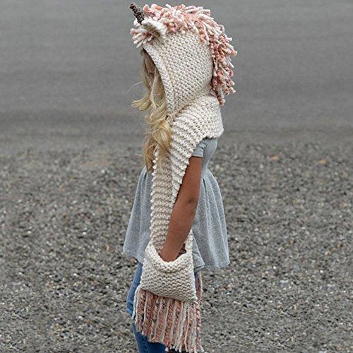 Winter Wolle Gestrickte Hüte Schals Kapuze Mönchskutte Beanie Mützen für Kinder Junge Baby Mädchen Schalmütze Mütze Wolleschal warme Earflap Fox cap Pattern 16