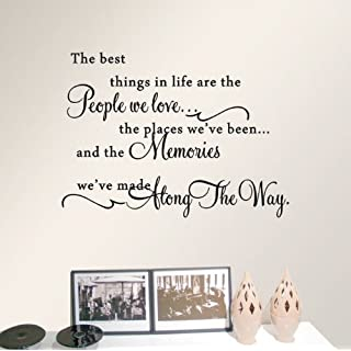 ACEFAST INC Quote the Best Things in Life Wall Sticker Vinyl Art Words Decal Home Decor