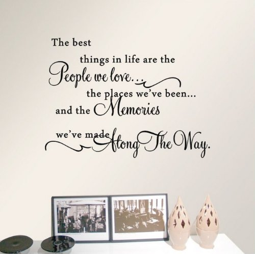 ACEFAST INC Zitat The Best Things in Life Wandtattoo Vinyl Art Worte Aufkleber Home Decor (Inc Acefast)