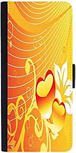 Snoogg Abstract Romantic Wallpaper Of Floral Themes In Orange Designer Protective Phone Flip Case Cover For Samsung Galaxy J2