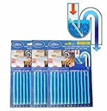 arts 24pcs(2 Packs) Enzymatic Drain Sticks - Helps to Prevent Blockages Forming