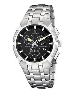 Reloj de caballero FESTINA F6812/4 de cuarzo, correa de acero inoxidable color plata de Festina