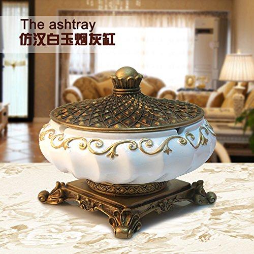 XiaoGao_ europäischen stil wohnzimmer aschenbecher mit luxus - zigarre aschenbecher deckel kreative persönlichkeit harz und geschenke,ein