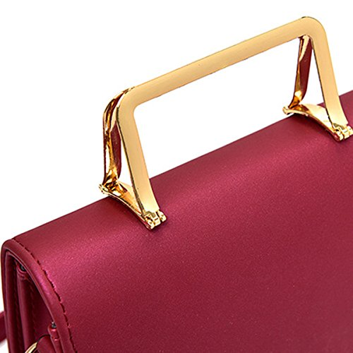 Frauen Top Griff Schulranzen Handtaschen Taschen Handtasche Multicolor Pink