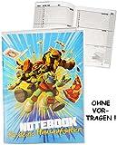 Unbekannt Hausaufgabenheft -  Teenage Mutant Ninja Turtles  - für Faule - ohne Vortragen der Stunden ! - Schule - incl. Schutzhülle & bunten Seiten - für Jungen / Kin..