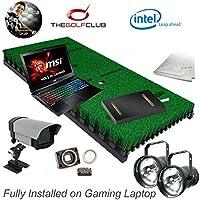 PROTEE Base Pack Dos Simuladores de Golf con Sensor de Putting TGC Paquete de Software Totalmente Instalado en Portátil de Juego.
