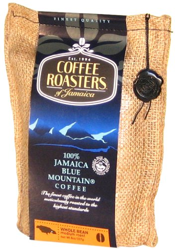 Coffee Roasters of Jamaica - 100% Jamaika Blue Mountain Kaffee-Spezialitäten, ganze Arabica Kaffeebohnen, 1er Pack (1 x 227 g) (Ganze Bohne Kaffee Blue Mountain)