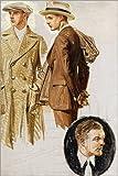 Posterlounge Holzbild 120 x 180 cm: Zwei Herren in Herrenmode (Studie) von Joseph Christian Leyendecker