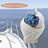 JohnJohnsen LC760 Sea Marine Militaire Électronique Bateau Navire Véhicule Véhicule Compass Navigation Positionnement Haute Précision LED Veilleuse (Blanc)